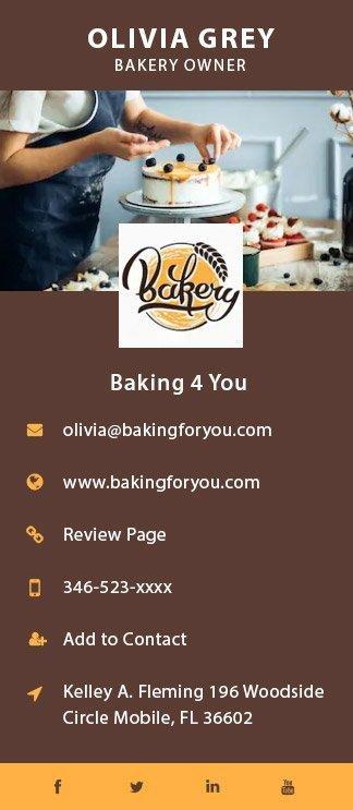 Baking 4 u business card