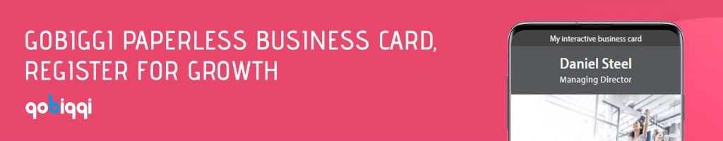 register for paperless business card