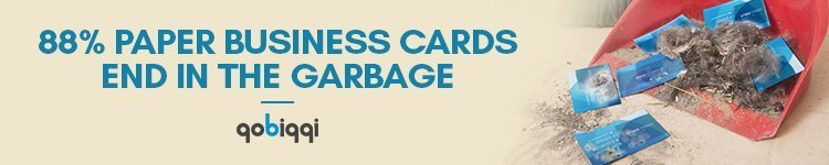 paper business card in garbage