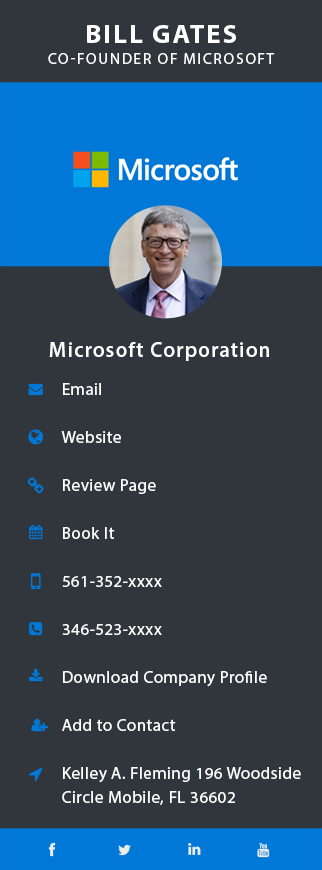 bill gates business card