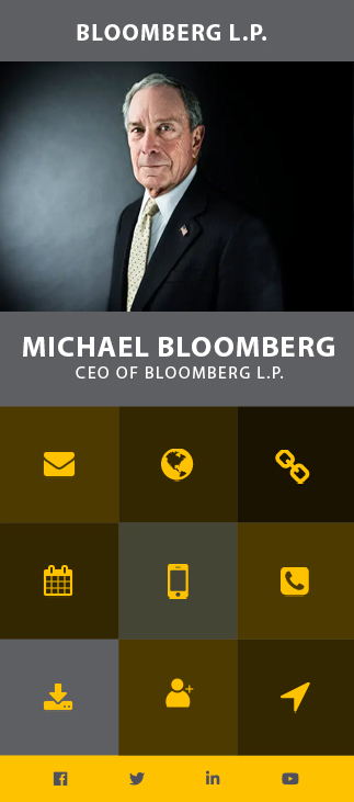 michael bloomberg business card