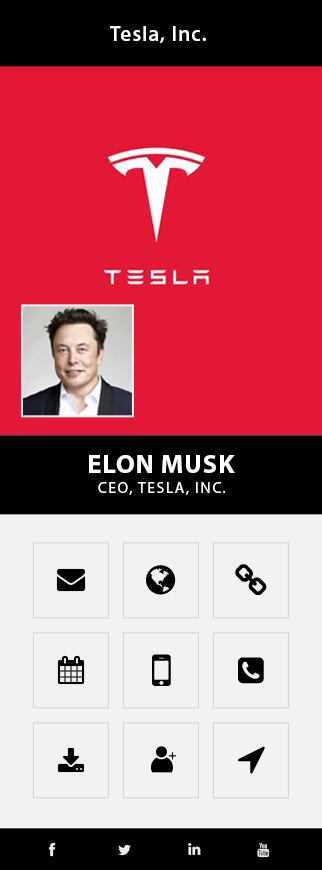 elon musk business card