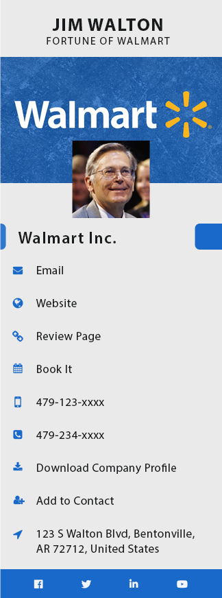 walmart business card