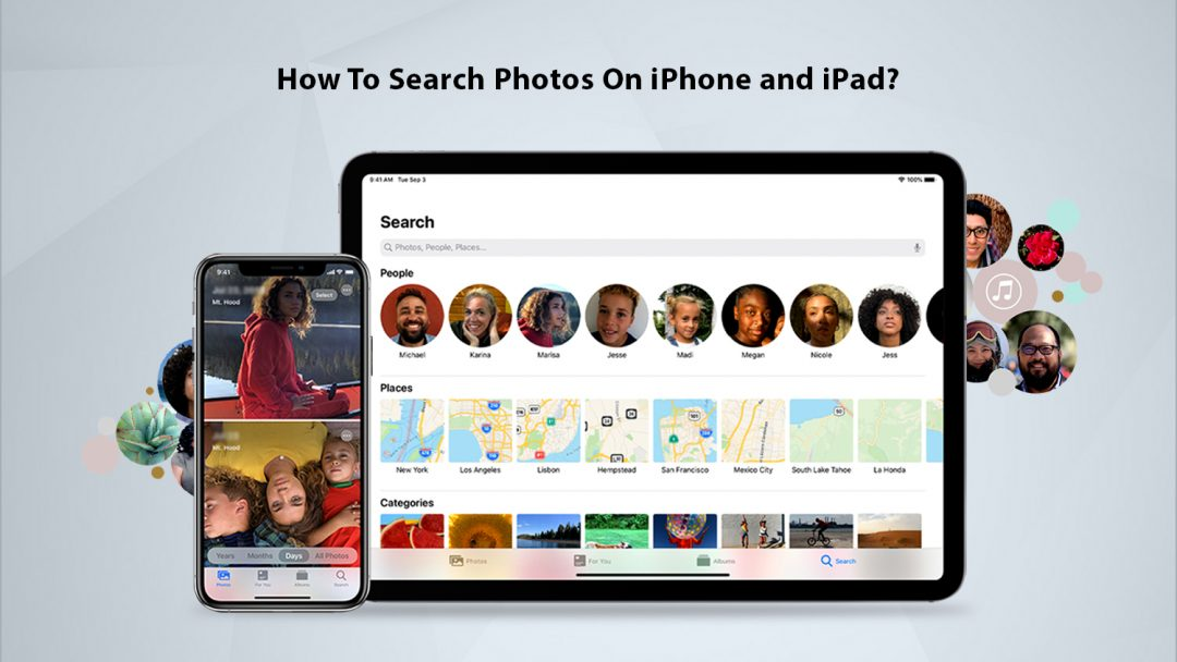 how to search photos on iphone