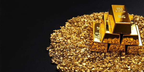 gold grains before melting